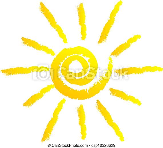Ilustración del vector del sol - csp10326629