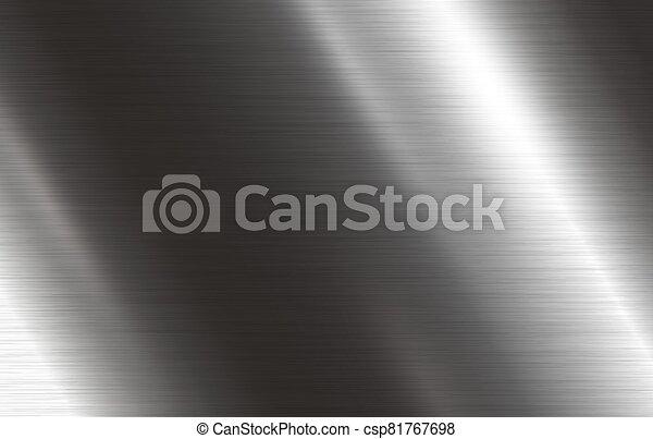 ilustración, metal, vector, plano de fondo, textura - csp81767698