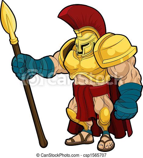 Ilustración de gladiador espatán - csp1565707
