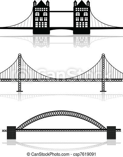 Ilustraciones del puente - csp7619091