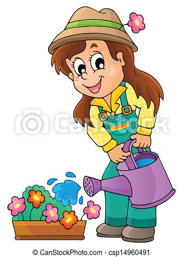 Imágenes con el jardinero número uno - csp14960491