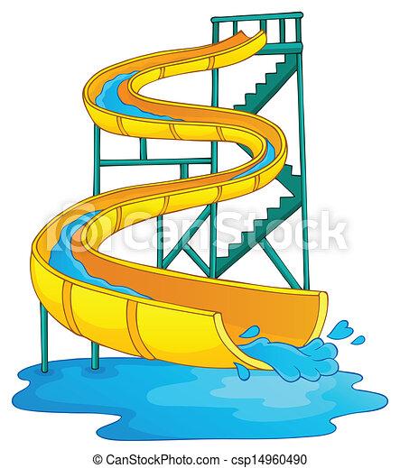 Imágenes con el tema del aquapark 2 - csp14960490