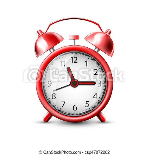 Imágenes de un despertador rojo - csp47072262