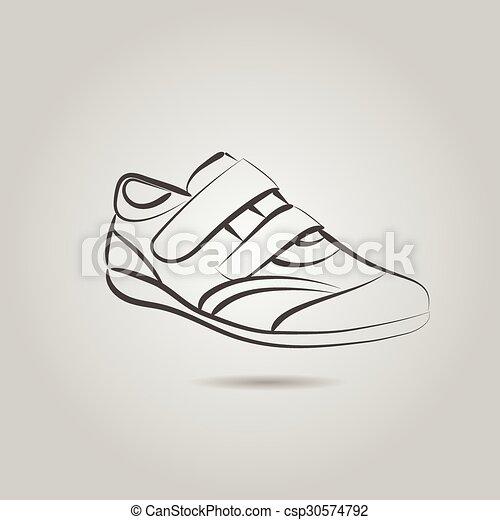 Imágenes de una bota masculina - csp30574792