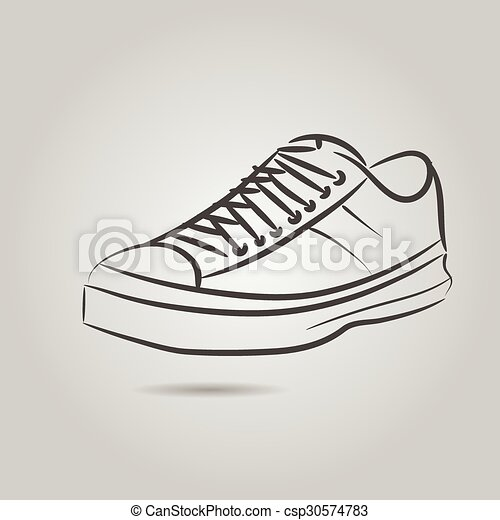 Imágenes de una bota masculina - csp30574783