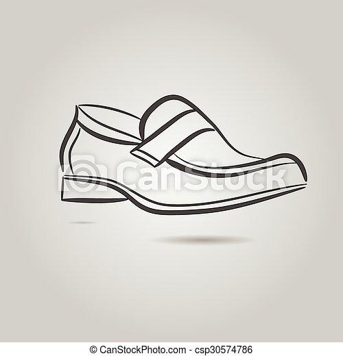 Imágenes de una bota masculina - csp30574786