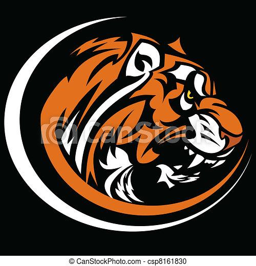 Imagen de vector gráfico de mascota tigre - csp8161830