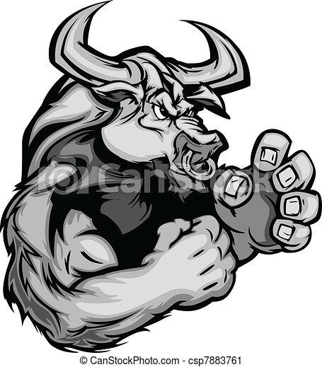Imagen gráfica de una vaca de toro - csp7883761