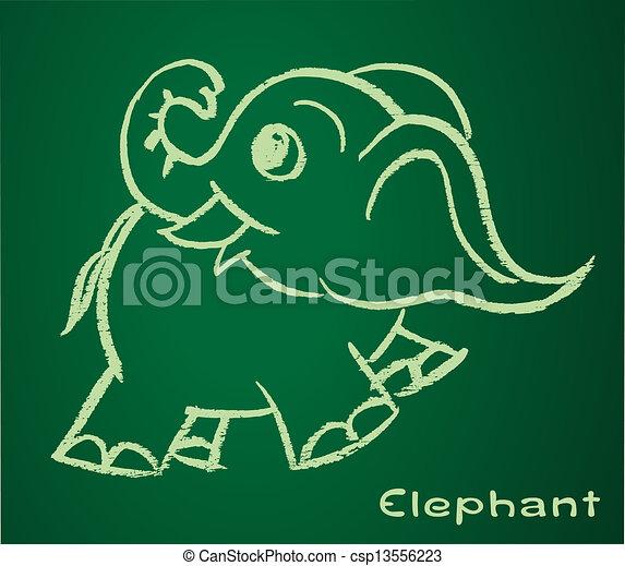Imagen vectora de un elefante - csp13556223