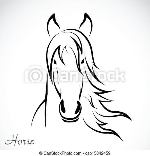Imagen vectora de caballo - csp15842459