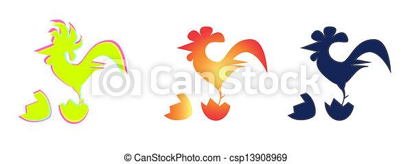 Imagen vectora de un gallo - csp13908969