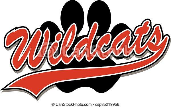 Wildcats con huella de pata - csp35219956