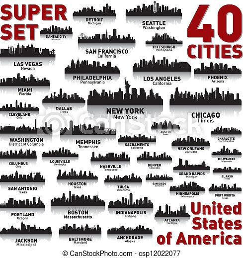 Increíble línea aérea de la ciudad. Estados Unidos de América. - csp12022077
