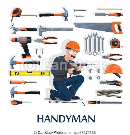 industria, factótum, trabajo, construcción, herramientas - csp83872158