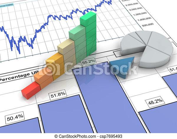 Tercera barra de progreso en el informe financiero - csp7695493