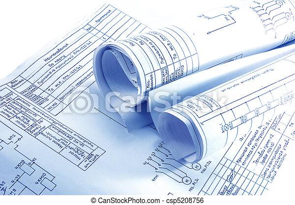 Ingeniería de los planos de la electricidad - csp5208756