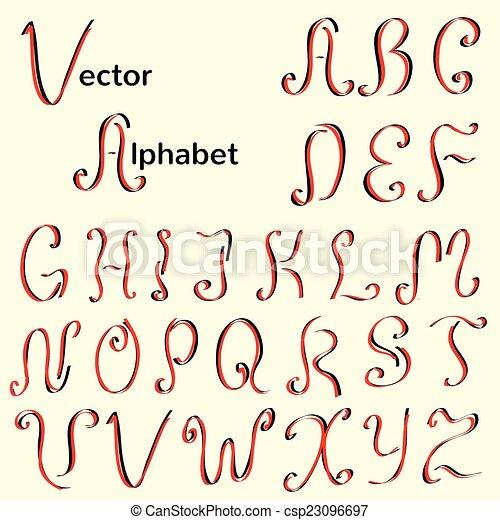 alfabeto caligráfico inglés - csp23096697