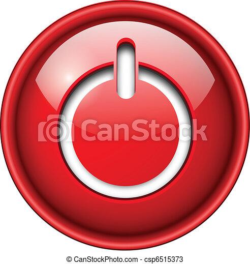 Inicia icono, botón. - csp6515373