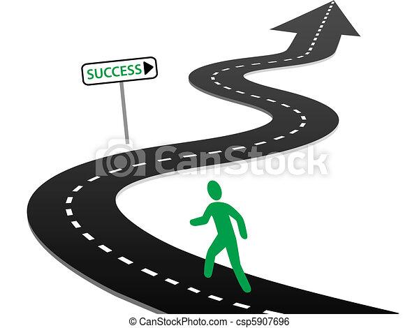 Iniciativa iniciando curvas de viaje hacia el éxito - csp5907696