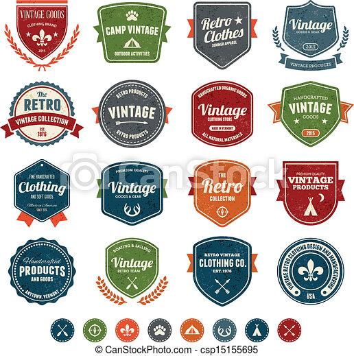 insignias de vintage - csp15155695