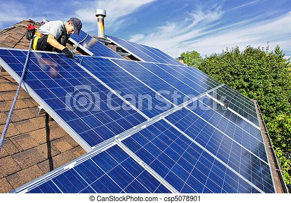 Instalación del panel solar - csp5078901