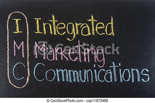 IMC acrónimo comunicaciones integradas de marketing - csp11873489
