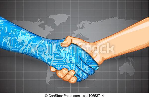 Interacción de tecnología humana - csp10653714