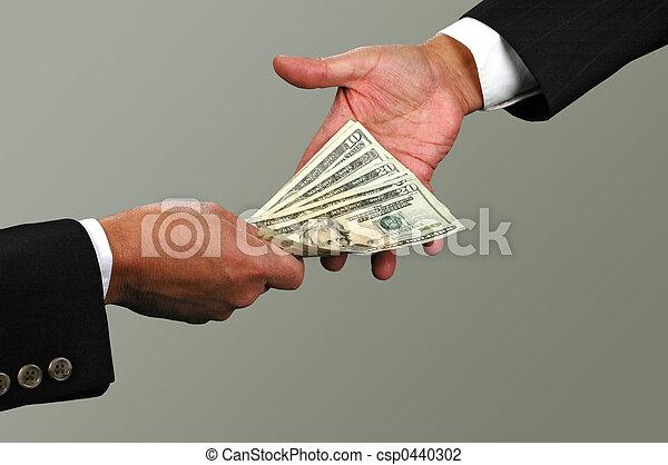 Intercambio de dinero - csp0440302