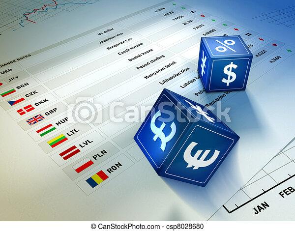 Intercambio de moneda - csp8028680