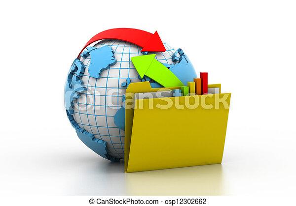 Intercambio en línea - csp12302662