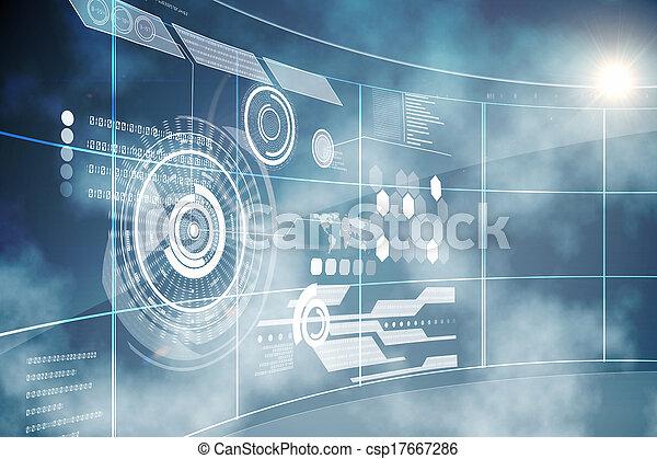 Interfaz de tecnología futurista - csp17667286