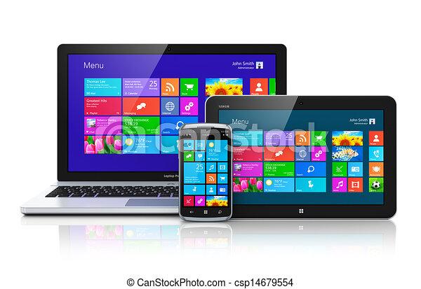 Dispositivos móviles con interfaz de pantalla - csp14679554