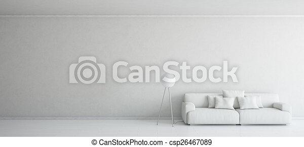 Interior blanco - csp26467089
