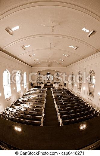 Vista interior de la iglesia - csp0418271