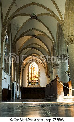 Interior de la iglesia - csp1758596
