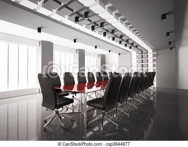 Interior moderno 3D - csp3644977