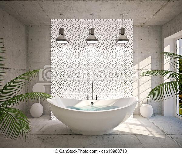 Interior moderno del baño - csp13983710