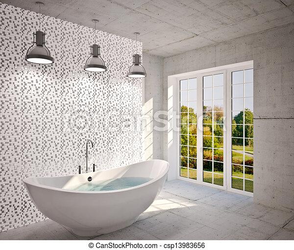 Interior moderno del baño - csp13983656