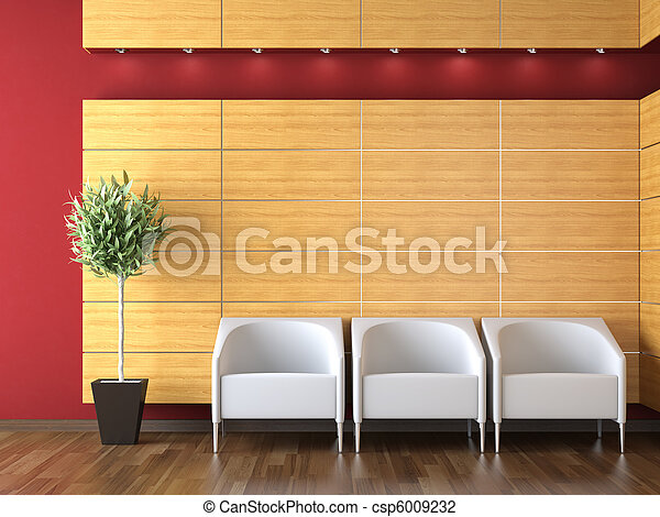 Diseño interior de la recepción moderna - csp6009232