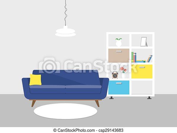Interior moderno - csp29143683