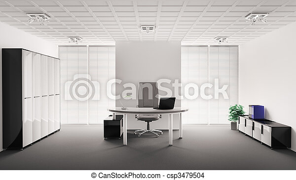 Interior moderno 3D - csp3479504
