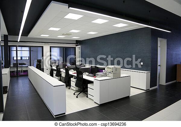 Interior de oficina moderna - csp13694236