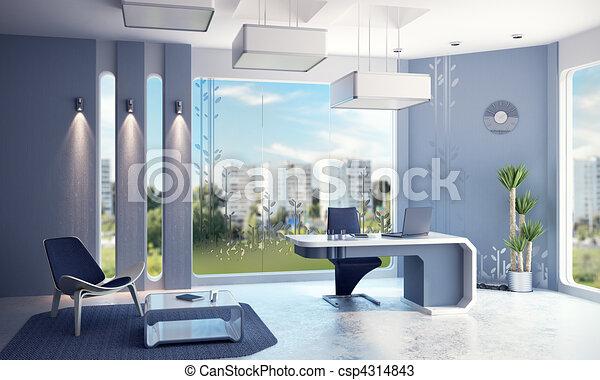 Interior de oficina moderna - csp4314843