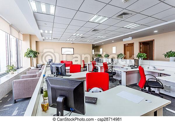 Interior de una oficina moderna - csp28714981