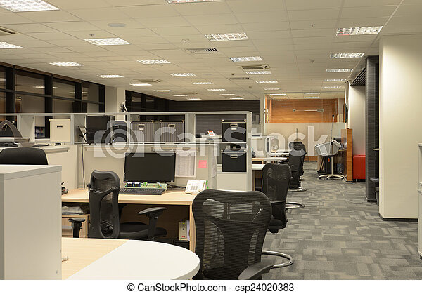 Interior de oficina - csp24020383