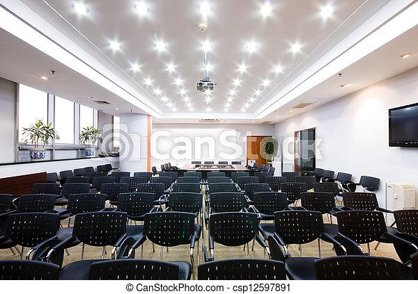 La sala interior de la oficina moderna - csp12597891