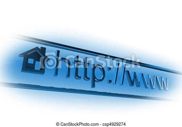 Dirección de páginas de Internet - csp4929274