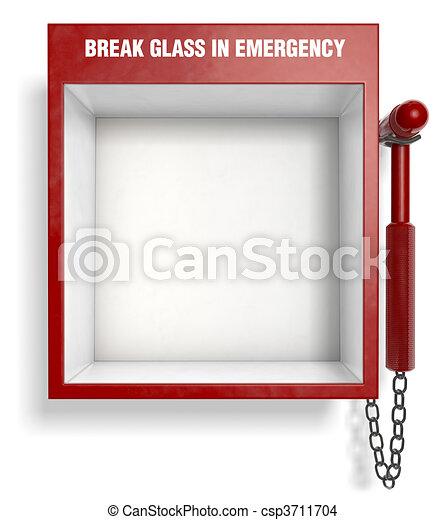 Rompe vidrio en emergencia - csp3711704