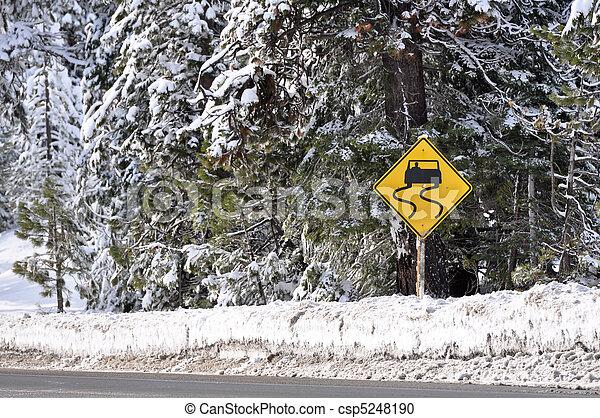 Señal de alerta de tormenta de invierno - csp5248190