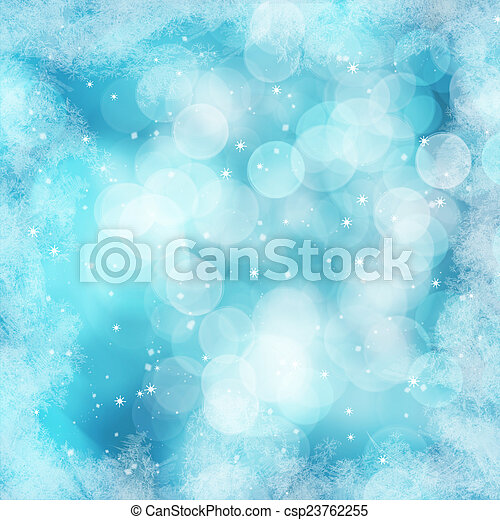 Antecedentes de invierno Gráficos de nieve de invierno proyecta textos espaciales - csp23762255